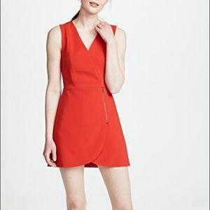 NWT Alice + Olivia Lennon Dress Red